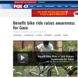 Benefit bike ride raises awareness for Gaza - FOX43
