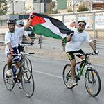 Filistin için pedal çevirdiler
