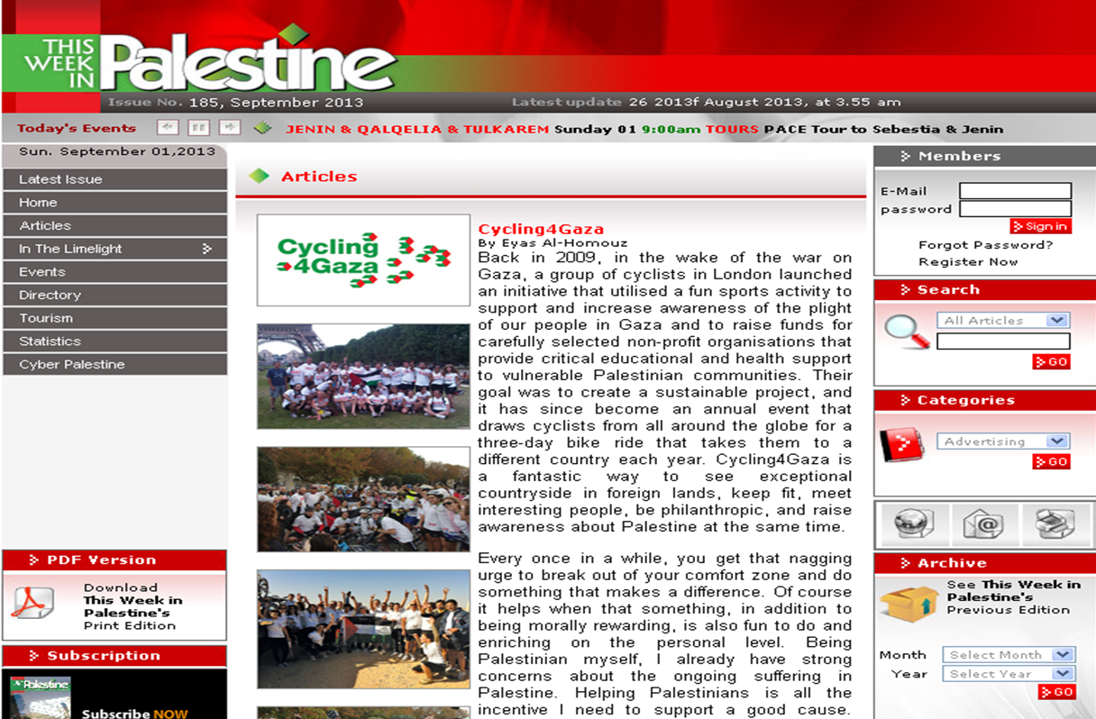 This Week in Palestine